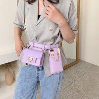 Женская поясная сумка из 2 предметов, роскошные дизайнерские тактические поясные сумки, кожаная забавная Сумочка с клапаном, нагрудная клат...