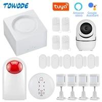 Towode     systeme dalarme de securite domestique intelligent Tuya  wi-fi  GSM  sans fil  433MHz  11 langues  application Tuya  Android IOS  clavier tactile