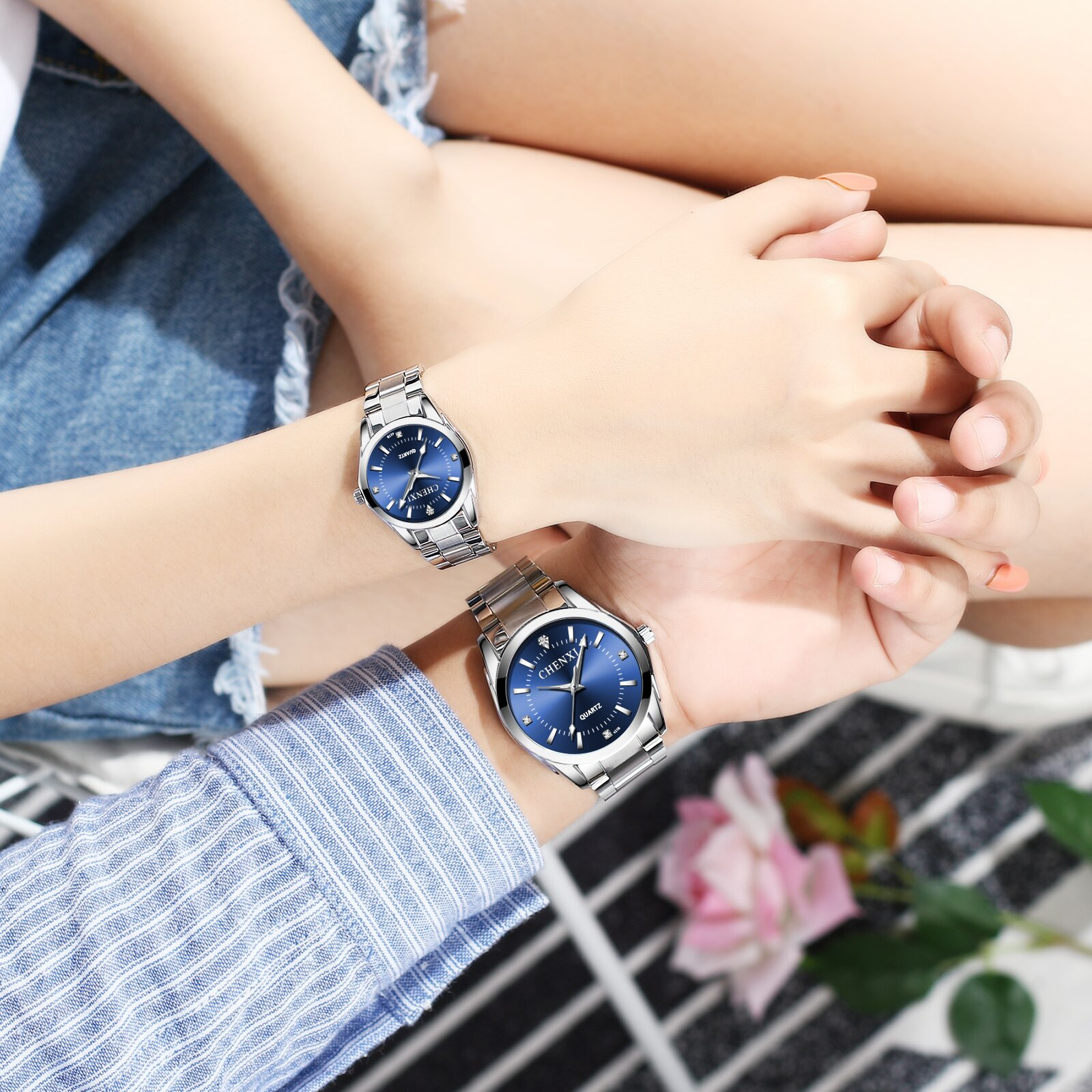 CHENXI watches female ladies watches fashion couple watches waterproof quartz watches men's watches фото