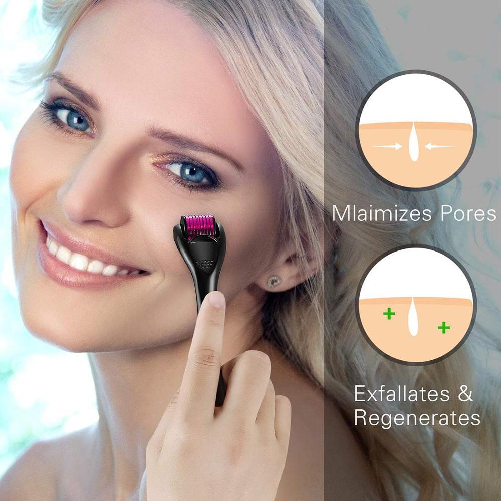 Skin Care 540 Derma Needle Roller Anti Hair Loss Treatment Thinning  0.2\0.25\0.3mm Titanium Needles Hair Regrowth Beard Growth