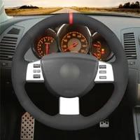 diy anti slip wear resistant steering wheel cover for nissan murano 2004 2008 altima 2004 2006 car interior decoration