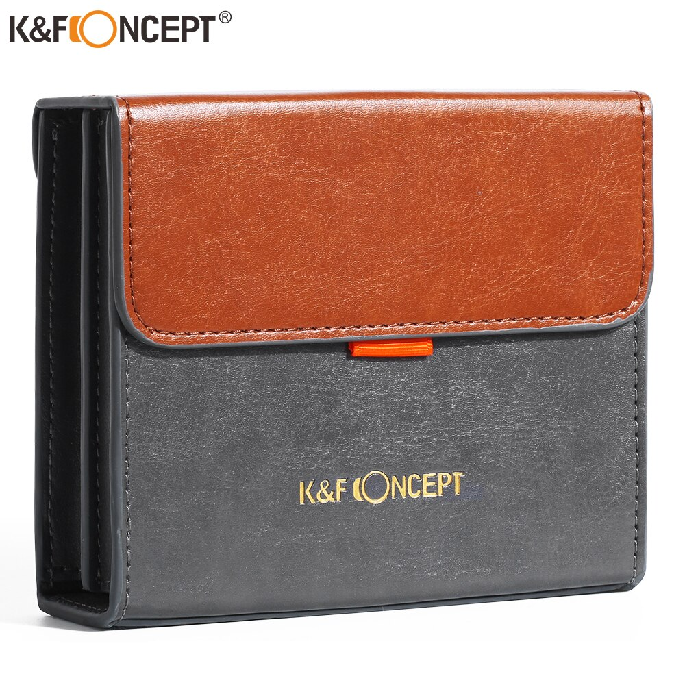 K & f conceito de 5.12 polegada de couro lente filtro caso transportando filtros bolsa para redondo ou quadrado nd cpl filtros