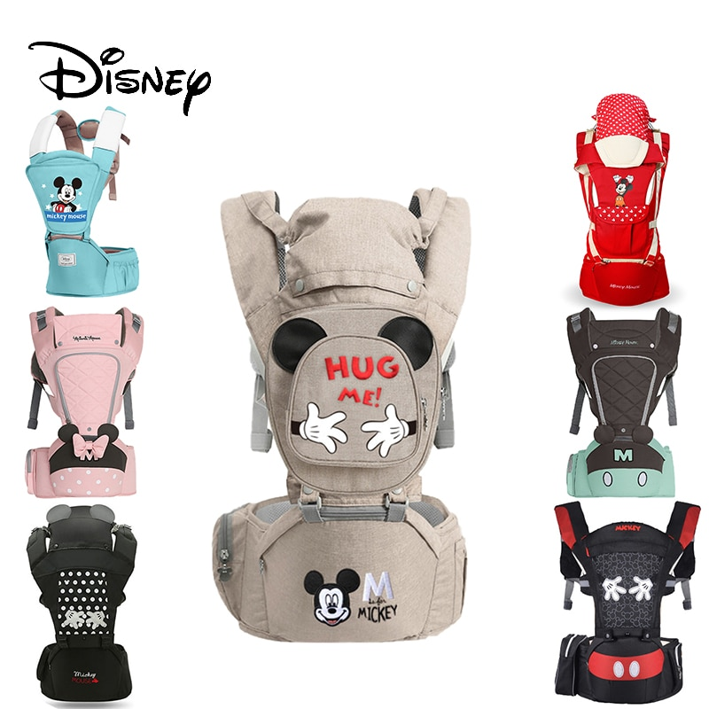 Disney Ergonomic Baby Carrier Infant Kid Baby Hipseat Sling Front Facing Kangaroo Minnie Baby Wrap Carrier For Baby Travel