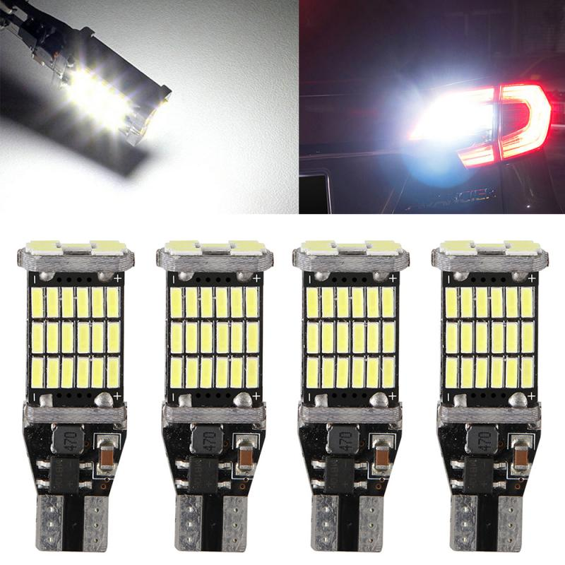 T15 W16W LED 921 912 Super brillante 45 SMD 4014 LED Canbus sin ERROR parada de reserva de coche luz de freno 12V señal lámpara TSLM2