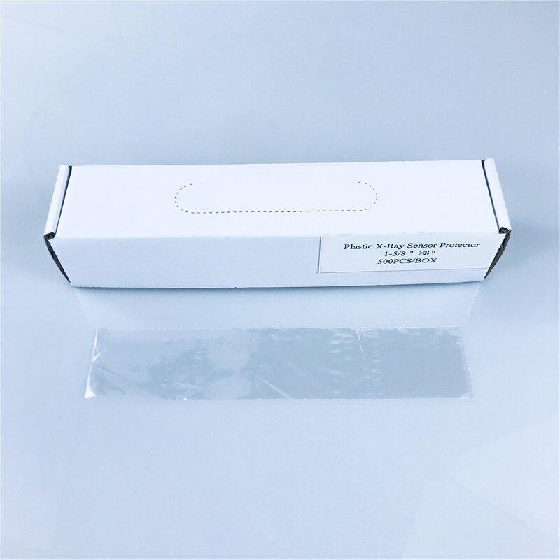 500 unids/caja Dental Material desechable Poly Pastic x-ray Sensor película protectora cubierta/manga envío gratis