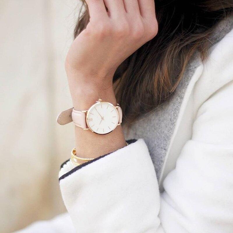 Zegarek Damski модные простые женские кварцевые часы женские повседневные кожаные кварцевые часы женские часы Relogio Feminino Montre Femme