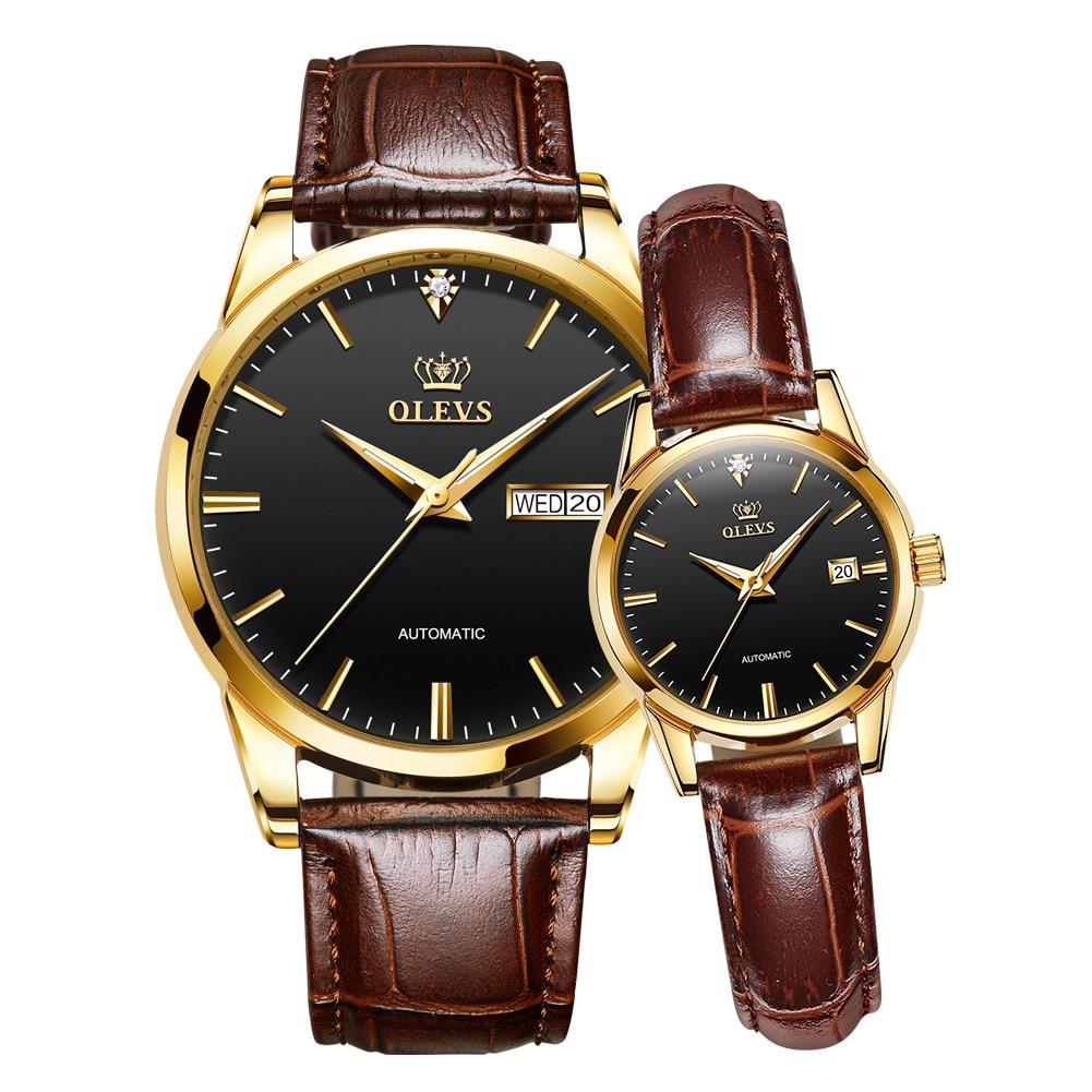 Watch Automatic Mechanical Watch Fashion Couple Watch Man's and Woman's Watch Couple Gift