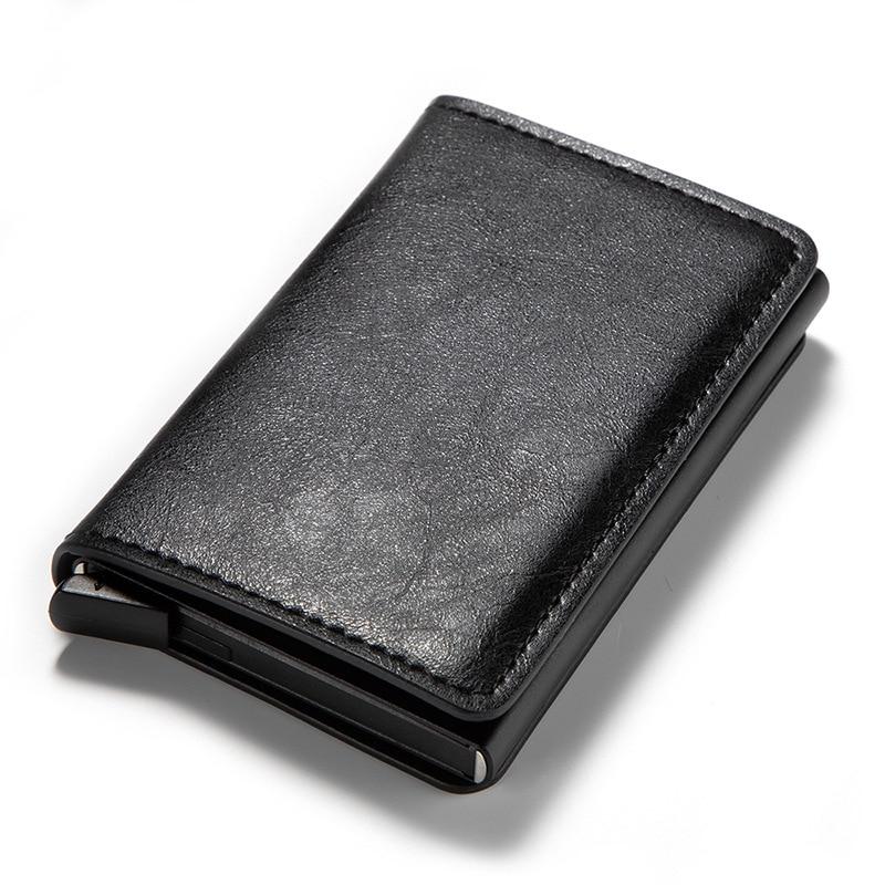 Slymaoyi, tarjeteros para hombre, estuche para tarjetas de identificación de negocios, tarjetero RFID automático de moda 2020, billeteras para tarjetas bancarias de aluminio