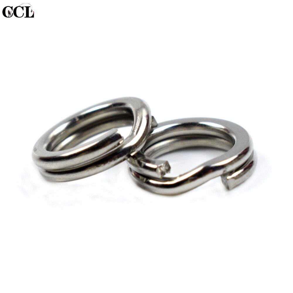 CCLTBA wysokiej jakości pierścień łączący ze stali nierdzewnej silne połowów przynęty dzielone pierścienie 50 sztuk płaski pierścień na akcesoria wędkarskie