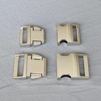 logo 20 pcs 2025mm lalaser engraving side release curved metal buckle for bag diy paracord buckles for bracelet logo qck