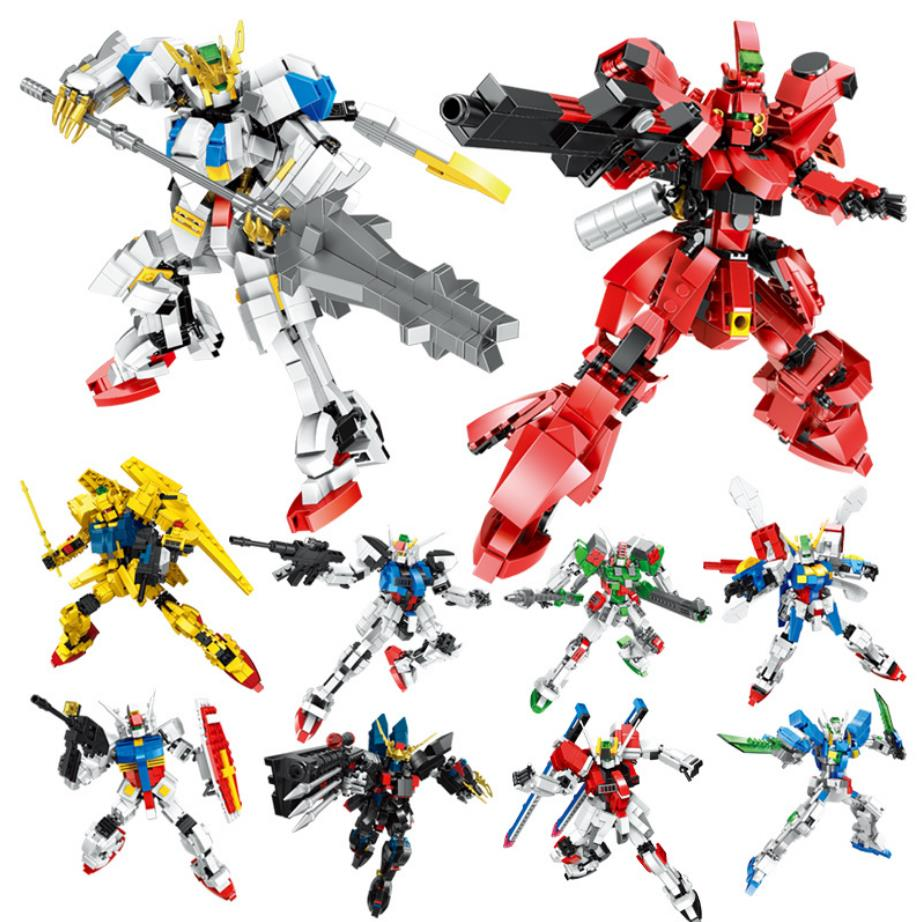 Super robot guerra zeta gundam 00 semillas de destino bloque Amuro Char cifras para coser creación tablilla sumeria Dios RX-78-2 SAZABI huelga evaluación de impacto ampliada de juguete de ladrillo