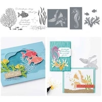fish metal cutting dies and stamps for scrapbooking stencils diy album cards decoration embossing folder die cuts cutter