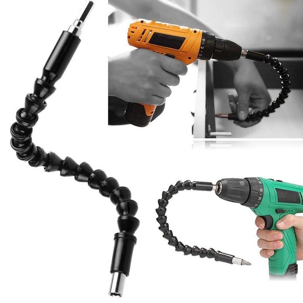 "JOYLIVE Repair Tools Black Flexible Shaft Bits Extention Screwdriver Bit Holder Connect Link Electronics Drill 1/4"" Hex Shank"