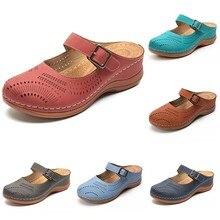 Buty damskie na co dzień panie dziewczyny wygodne kostki Hollow okrągłe Toe sandały miękkie podeszwy buty stałe PU buty outdoorowe #15