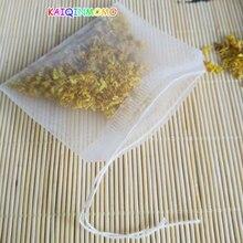 Filtre de sachets de thé en Nylon 100 pièces/lot   Filtre à feuilles transparentes, filtre à thé avec cordon, 4.9x5.9cm 5.9x6.9cm, livraison gratuite