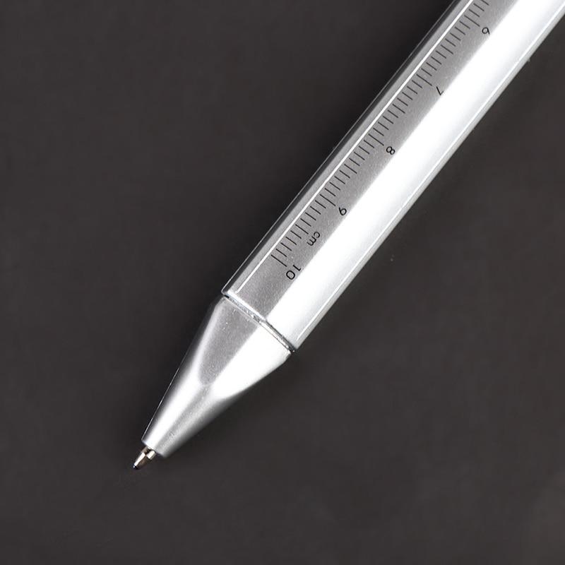 Шариковая ручка с штангенциркулем, многофункциональная ручка, ручка с гелевыми чернилами, нониусный штангенциркуль, шариковая ручка, канце... нониусный штангенциркуль рос