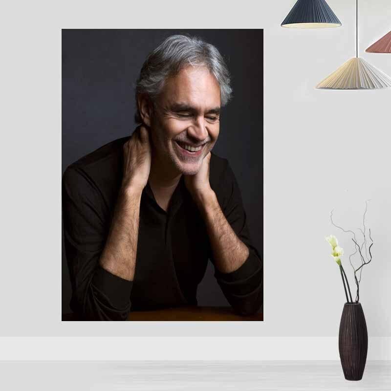 New Andrea Bocelli Poster Custom Satin Poster Print Cloth Fabric Wall Poster Print Silk Fabric Print Poster