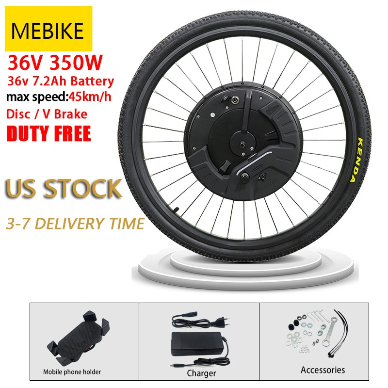 US Stock 36V Imotor 3.0 Electric Bicycle Conversion Kit Brushless Hub Front Wheel Motor 26 inch 700C With Battery Charge Display
