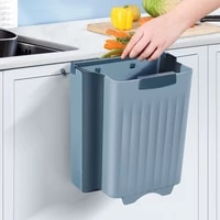 stackable wall mounted folding waste bin kitchen trash can wastebasket trash container trash bin bag wall mounted folding bin