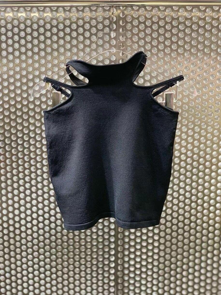 2021 ربيع جديد تصميم مثير الجوف خارج متماسكة تنورة سوداء حقيبة ضيقة الورك قلم رصاص صغير تنورة