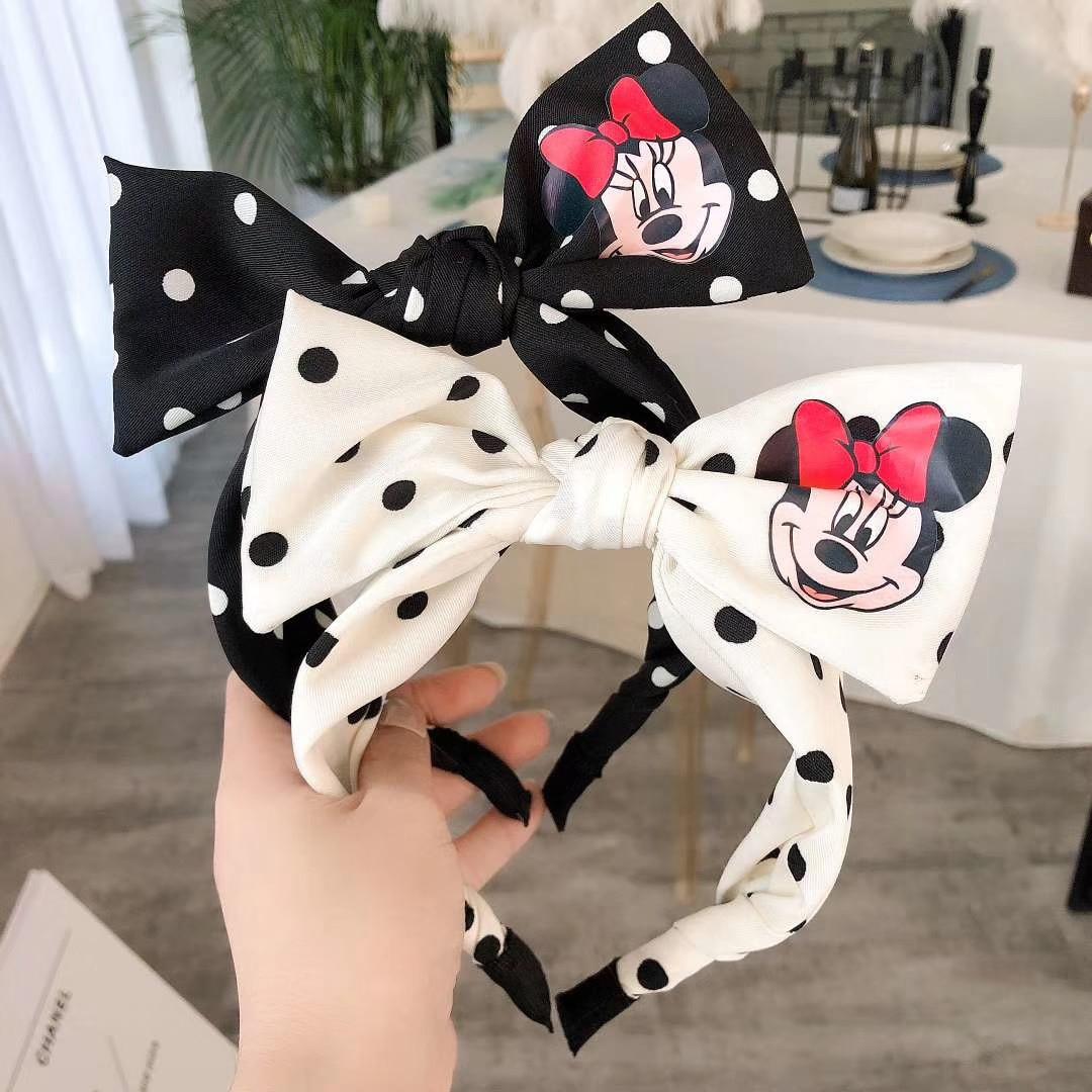 Disney cute minnie hair band ponytail hair band rubber band female head rope jewelry doll accessories hair accessories