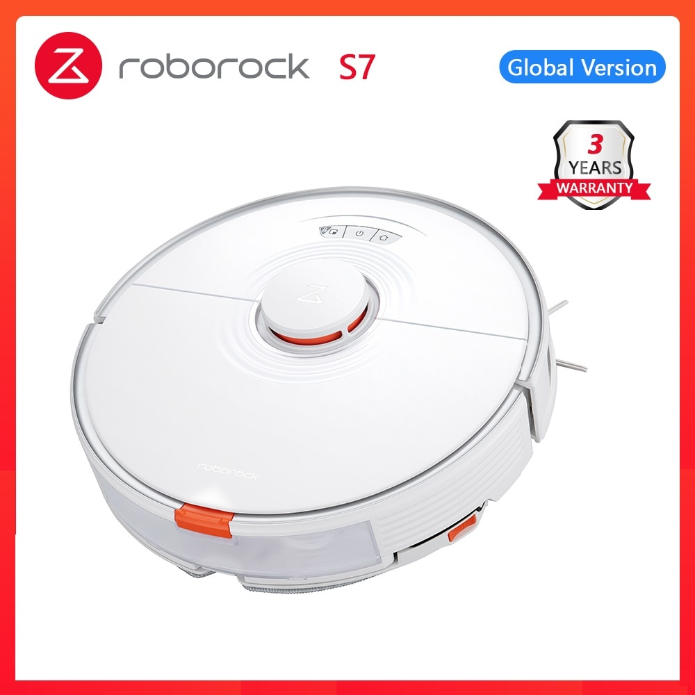 2021 newest Roborock S7 robot vacuum cleaner for home sonic mopping ultrasonic carpet clean alexa mop lifting upgrade for S5 max