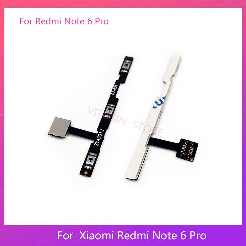 Para Xiaomi Redmi Nota 6 Pro fuerza volumen flexible Cable de botón en el lateral interruptor Cable Flex Reparación de piezas de repuesto
