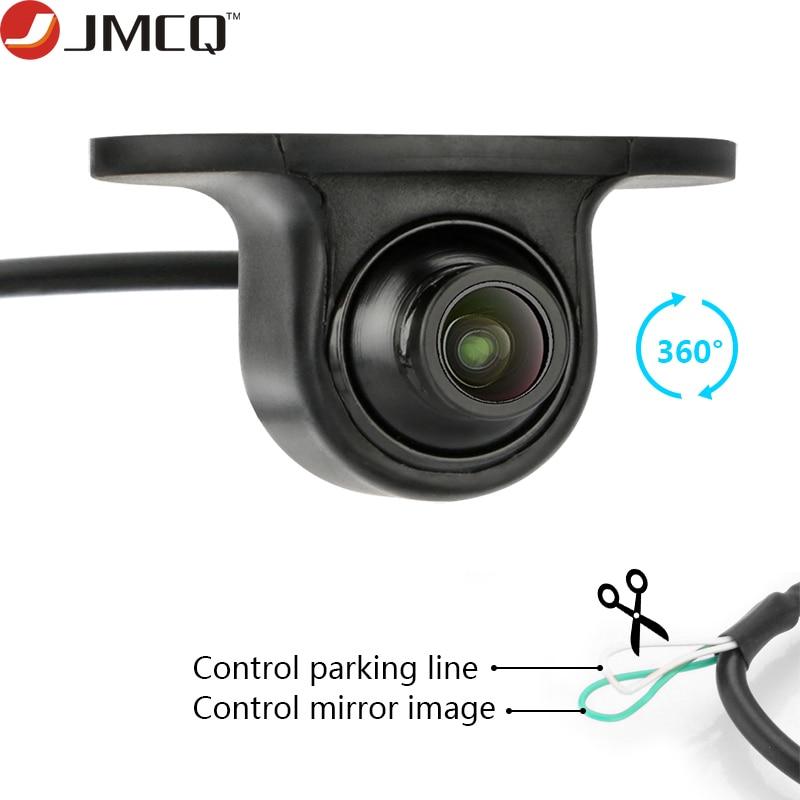 JMCQ 360 degrés CCD Coms HD Vision nocturne Rotation voiture vue arrière caméra avant vue de face caméra de recul latérale