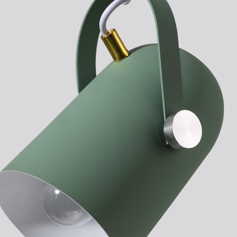 Купить с кэшбэком Nordic Minimalism droplight Angle adjustable E27 small pendant lights, Home decor lighting lamp and Bar Showcase spot light