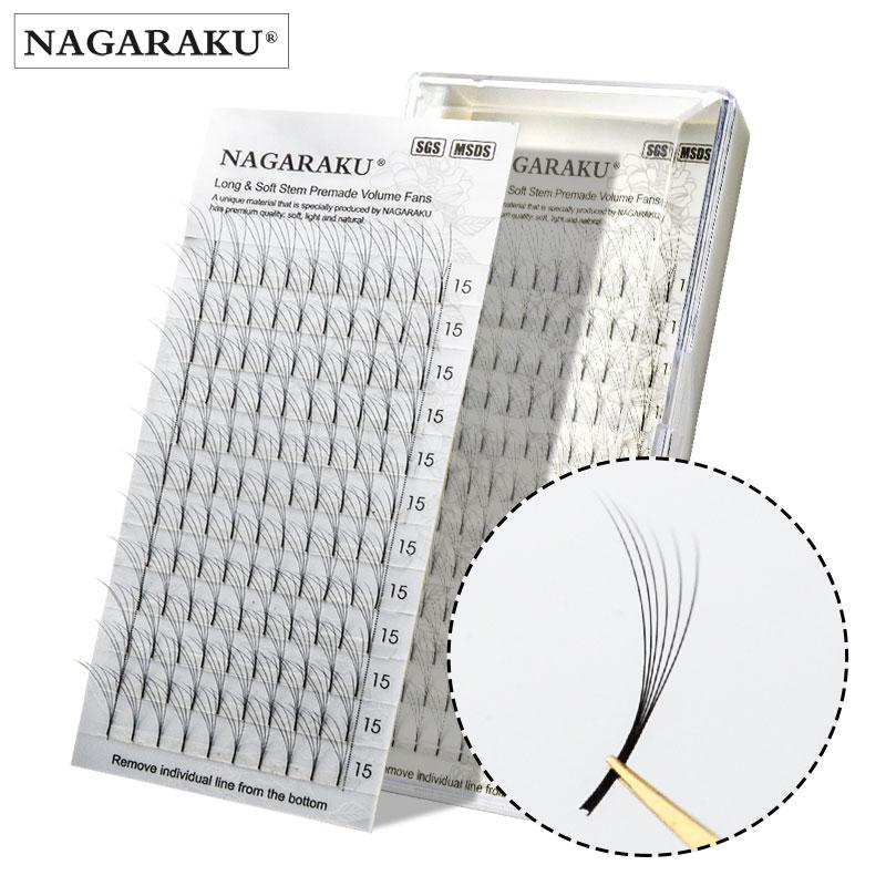 NAGARAKU eyelashes mink makeup 12 Lines 3D-6D Premade  Fans Russian Volume Eyelash Black Faux Mink Premium Eyelash Application