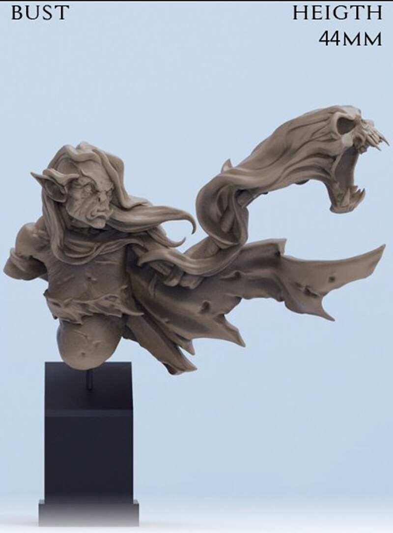 1/10 44mm antiguo guerrero de fantasía soporte (NO BASE) figura de resina en miniatura kits miniatura gk Unassembly sin pintar