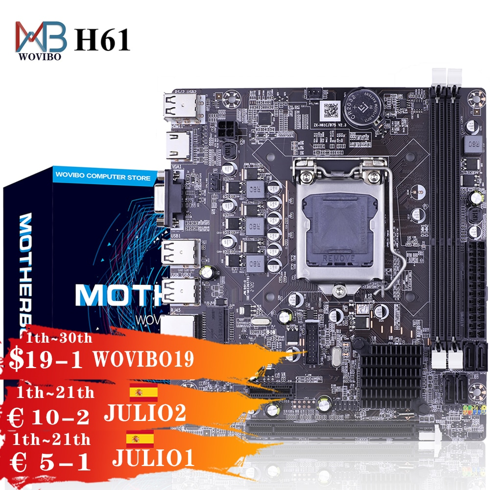 H61 اللوحة LGA 1155 DDR3 الذاكرة 16GB مايكرو-ATX سطح المكتب Mainbord ل LGA1155 المقبس إنتل كور I3 I5 I7 زيون وحدة المعالجة المركزية