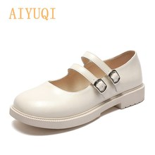 Shoes Girl Genuine Leather 2021 Spring New Japanese Round Head Women Mary Jane Shoes Casual Shallow