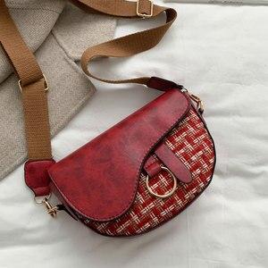 2020 Luxury Fashion Women Crossbody Bag Crocodile Semicircle Saddle Bags Soft Leather Shoulder Bags For Ladies Handbags Designer
