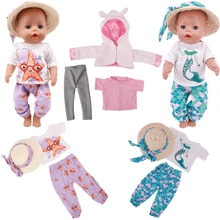 Doll Clothes Fashion Handmade Farmhouse Style Outfit Plush Jacket and Leggings Warm Fit 43 Cm New Ba