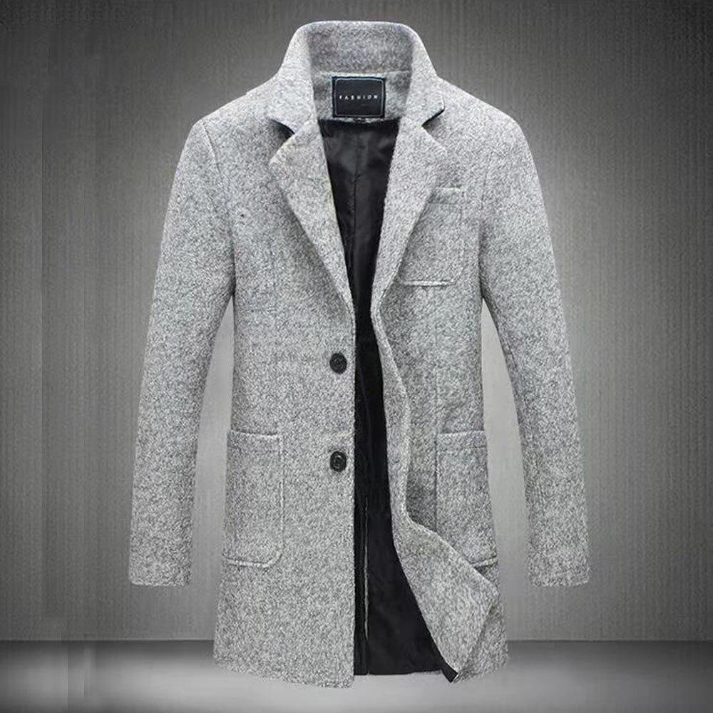 New longer wool coat for winter men fashion trench coat thicken men's coat BB65