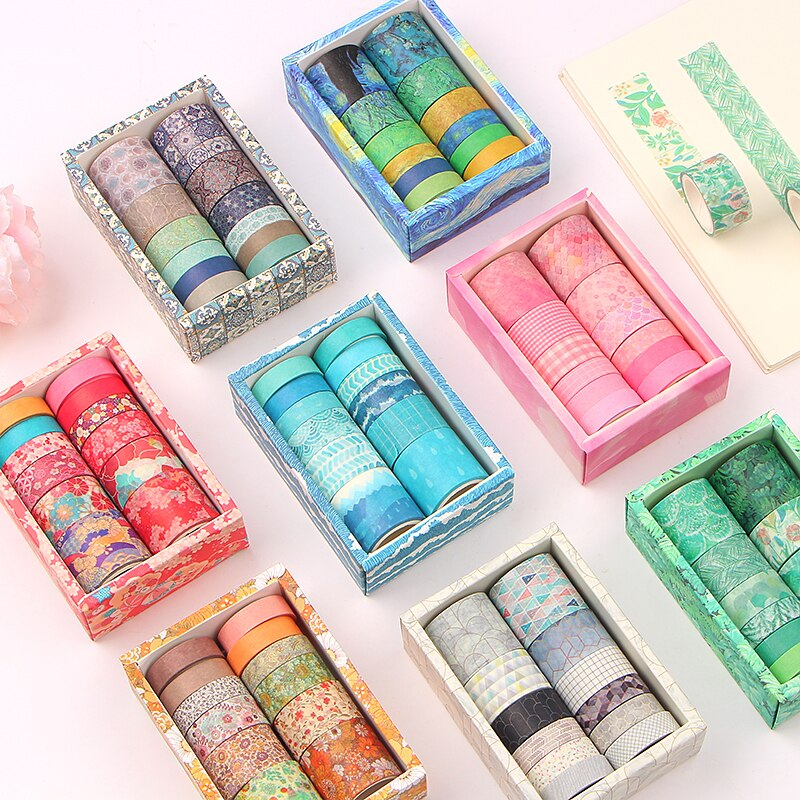 12 Roll/set  Washi Tapes Painting Paper Masking Tape DIY Decorative Adhesive Tapes Scrapbooking Stickers александр малинин 2019 12 14t19 00