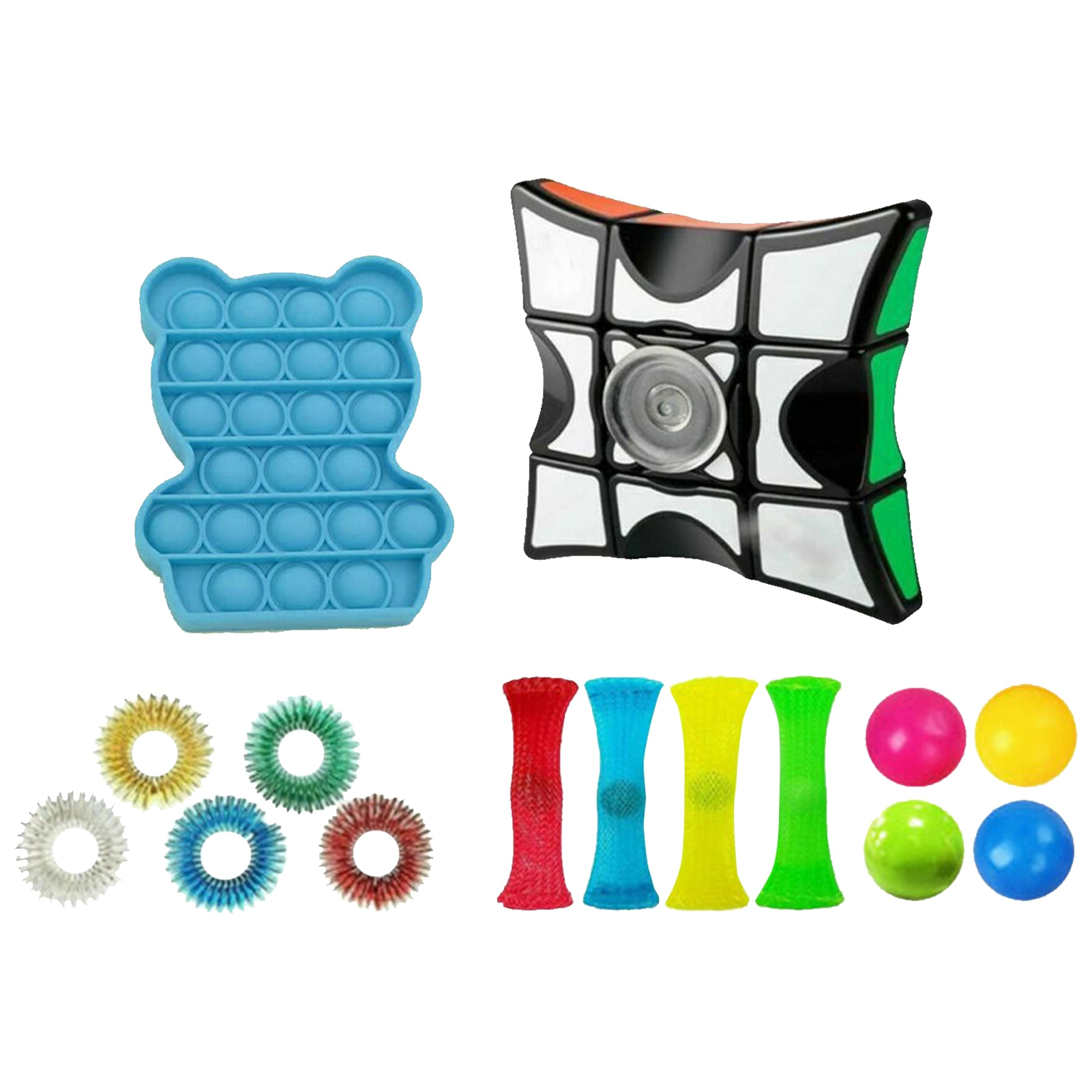 18Pcs Fidget Toys Anti Stress Toy Set Stretchy String Mesh Marble Relief Gift For Adults Girl Children Sensory Stress Relief Toy enlarge