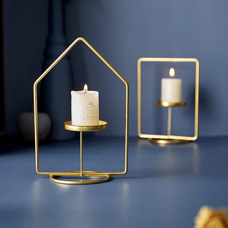 Soporte de velas para el Hogar, candelero decoración moderna y sencilla, estilo...