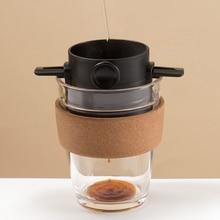 מתקפל נייד קפה מסנן מכונת קפה טפטוף נירוסטה קפה תה מחזיק לשימוש חוזר ללא נייר יוצקים מעל קפה טפטף