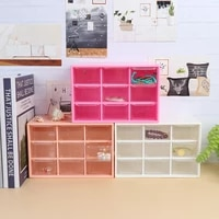 1pcs 9grid storage case box holder container 3 layer holder student office stationery