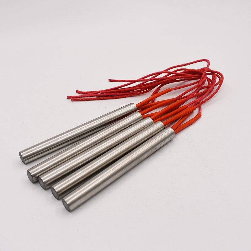 Calentador de cartucho de diámetro de tubo de acero inoxidable de 12mm, calentador de tubo de 40-200mm de longitud, calentador de tubo de elemento de calentamiento eléctrico de 220V, envío gratis