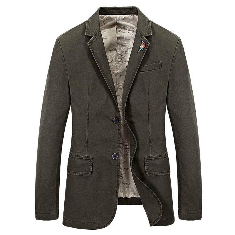 Marque Blazer veste manteau coton Jaqueta masculina mode veste hommes Casaco Masculino costumes veste grande taille S-4XL
