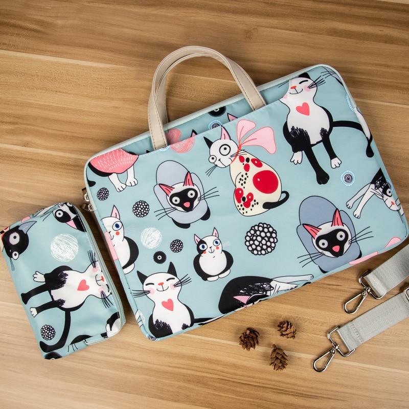 For Macbook Air Pro Handbag Laptop Shoulder Bag 12 13 14 15.6 Inch Waterproof Notebook Sleeve  Computer Cover Women Briefcase