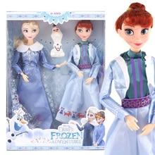 Disney anime congelado 2 elsa anna brinquedos 30cm congelado 12 conjunta figura móvel olaf bonecas presentes de aniversário brinquedos para crianças menina