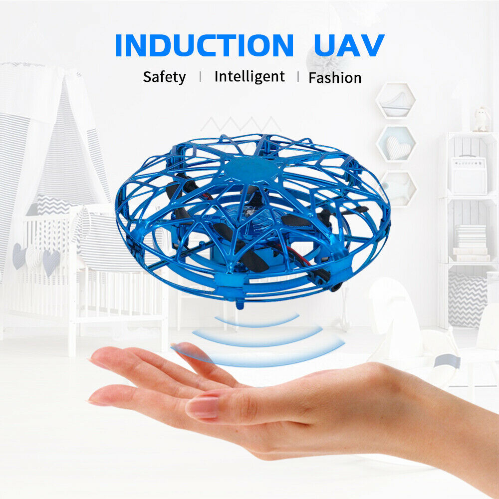 Mini Drone UFO Hand Operated RC Helicopter Christmas gift for kids Drone Infrared Induction Aircraft Flying Ball Toys For Kids enlarge