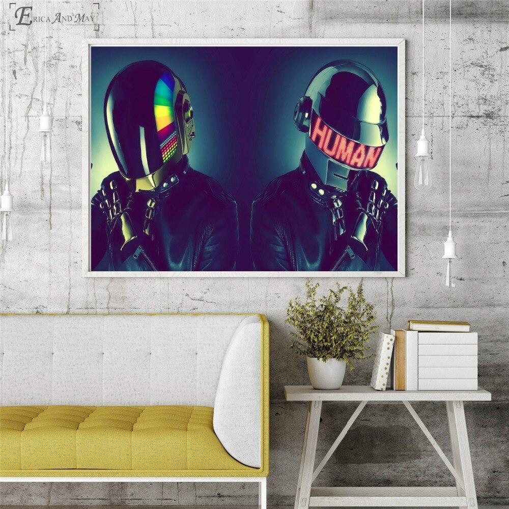 Daft Punk máscara Pop música cantante en venta cartel pared pintura sala de estar lienzo abstracto imágenes artísticas para la decoración del hogar sin marco