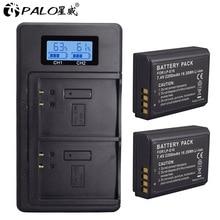 Аккумуляторы для камер, с ЖК-дисплеем и USB, для Canon EOS 1100D 1200D 1300D Kiss X50 X70 X80 Rebel T3 T5 T6 L10, LP E10 LPE10