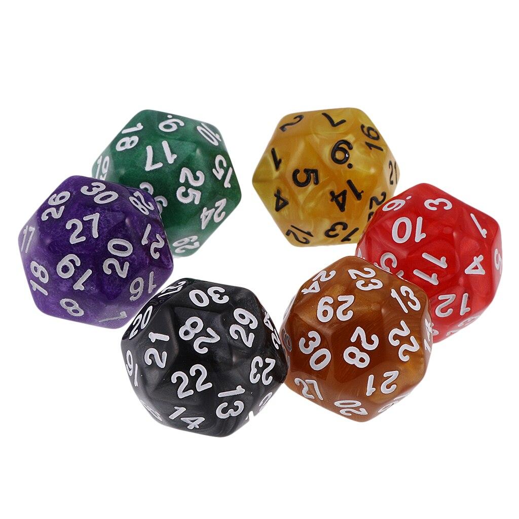12 шт. многогранный D30 D24 кубики набор цифров Для MTG DND Gambing игрушки