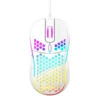 Игровая мышь Highend, легкая, RGB, 7200DPI, с сотовым корпусом, эргономичная мышь для игрового компьютера, настольного ПК, черная, белая, розовая, Нови...